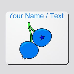 Custom Blueberries Mousepad